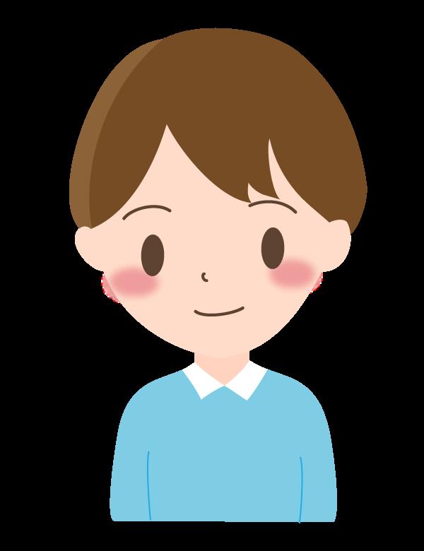 男の子/笑顔のイラスト03