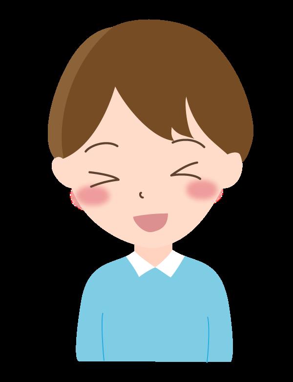 男の子/笑顔のイラスト04