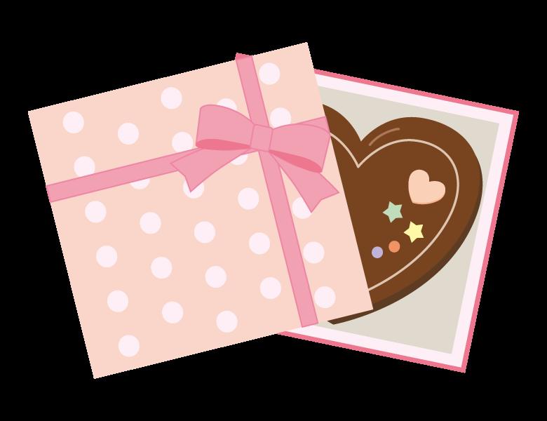 かわいいハートのバレンタインチョコのイラスト