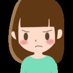 怒った表情の女性のイラスト