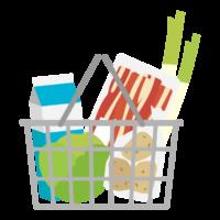 食料品の買い物のイラスト
