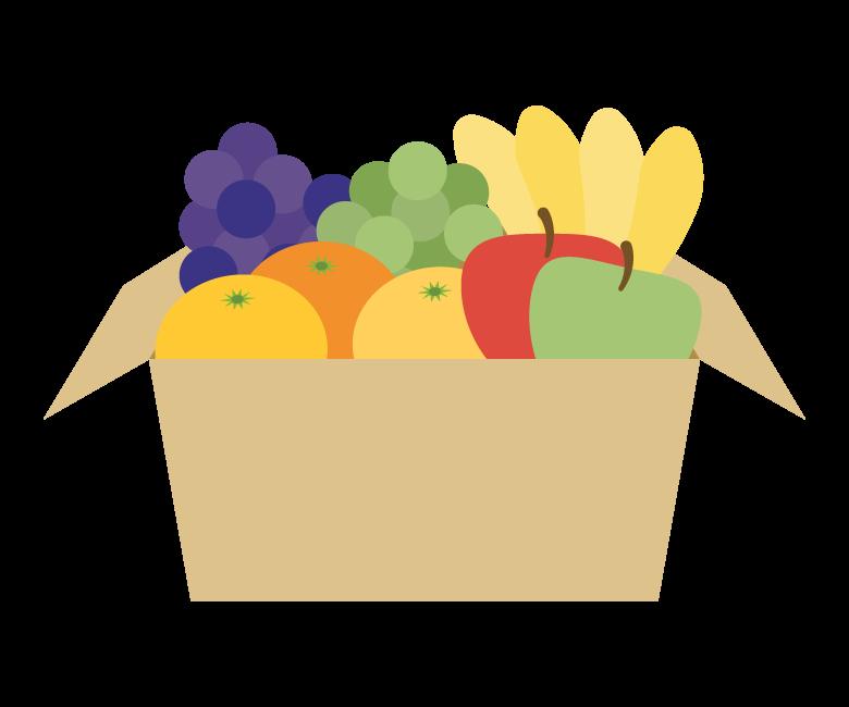 果物の詰め合わせのイラスト
