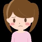 困った表情の女の子のイラスト