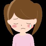 泣いている表情の女の子のイラスト