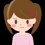怒った表情の女の子のイラスト