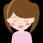 ニッコリ笑顔の女の子のイラスト