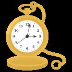金の懐中時計のイラスト