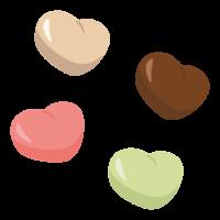 ハート型のチョコレート/バレンタインチョコのイラスト
