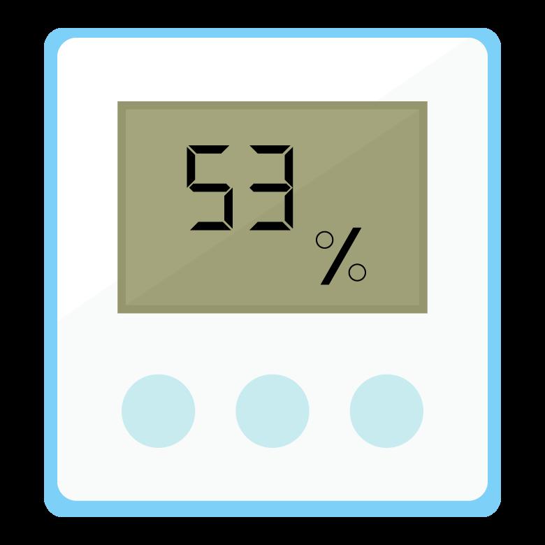 デジタルの湿度計のイラスト