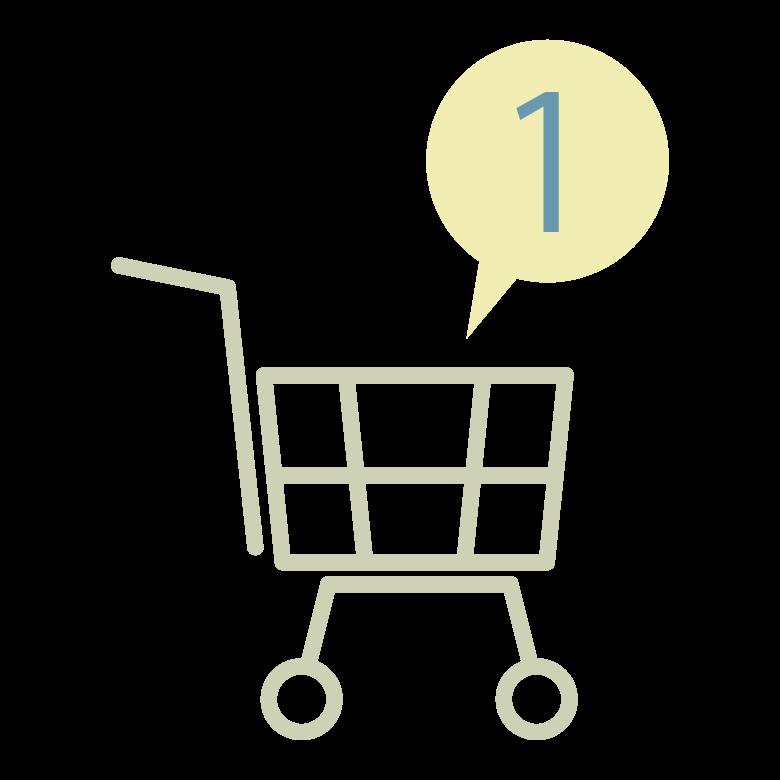 ネットのショッピングカートのイラスト