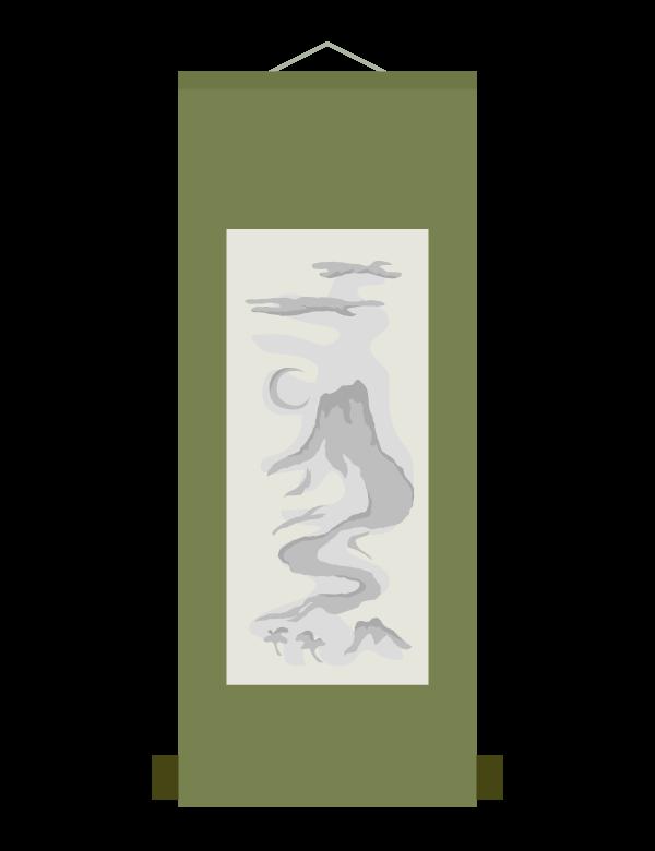 掛け軸のイラスト