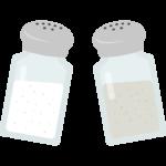 塩/胡椒/コショウのイラスト