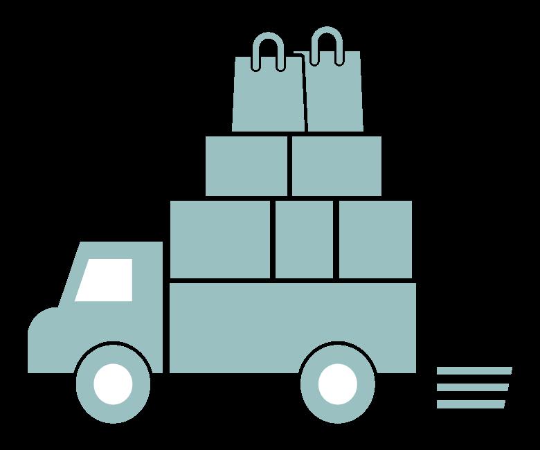 ショッピングの配送のイラスト