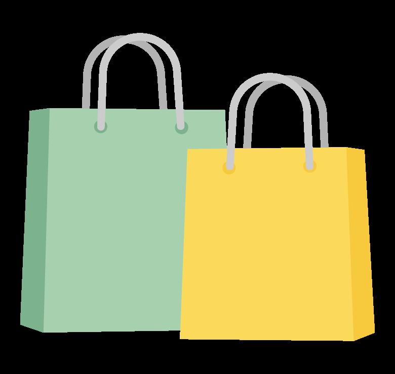 買い物袋(紙袋)のイラスト