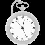 銀の懐中時計のイラスト