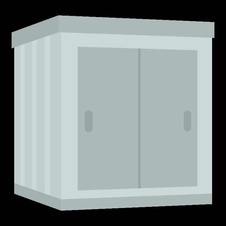 物置小屋のイラスト