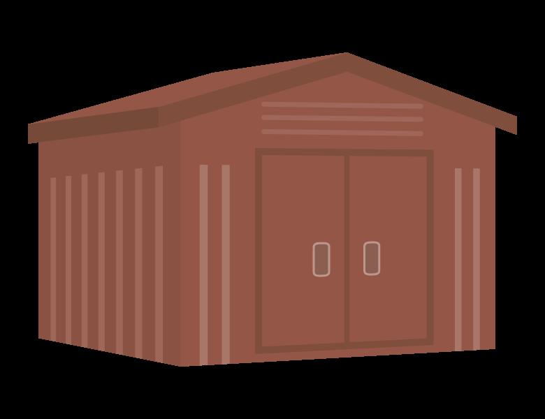 物置小屋/倉庫のイラスト