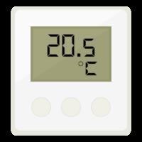 デジタルの温度計のイラスト