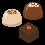 チョコレート/バレンタインチョコのイラスト