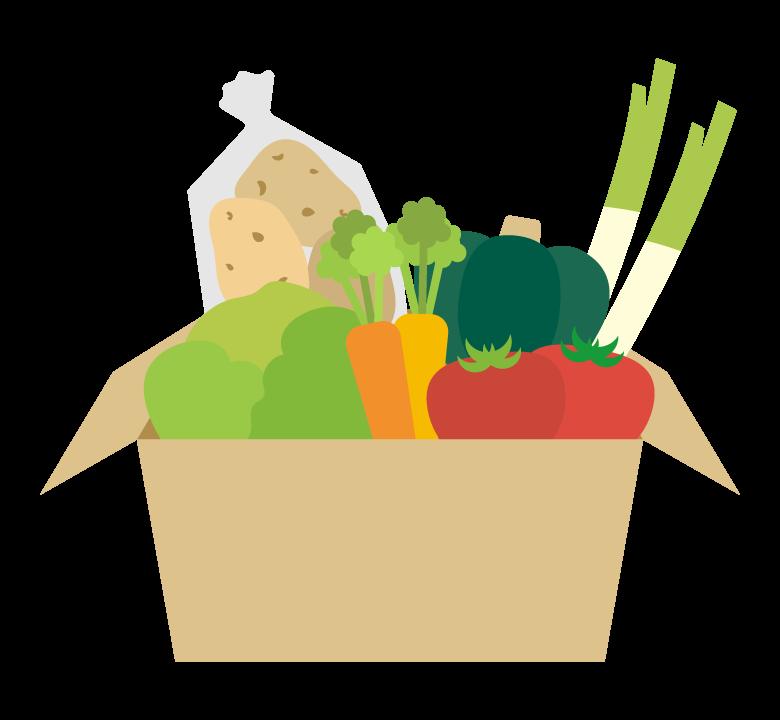 野菜の詰め合わせのイラスト