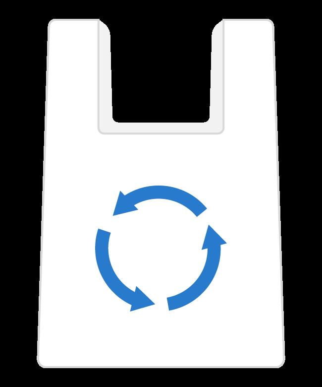 レジ袋/ビニール袋のイラスト
