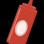 ケチャップ/ケチャップボトルのイラスト