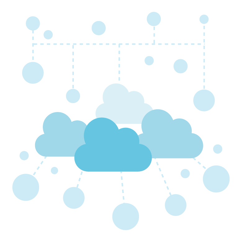 クラウド/インターネット/ネットワークのイラスト