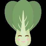 かわいい青菜のキャラクターのイラスト