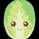 かわいい白菜のキャラクターのイラスト