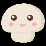 かわいいマッシュルームのキャラクターのイラスト