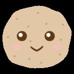 かわいいジャガイモのキャラクターのイラスト