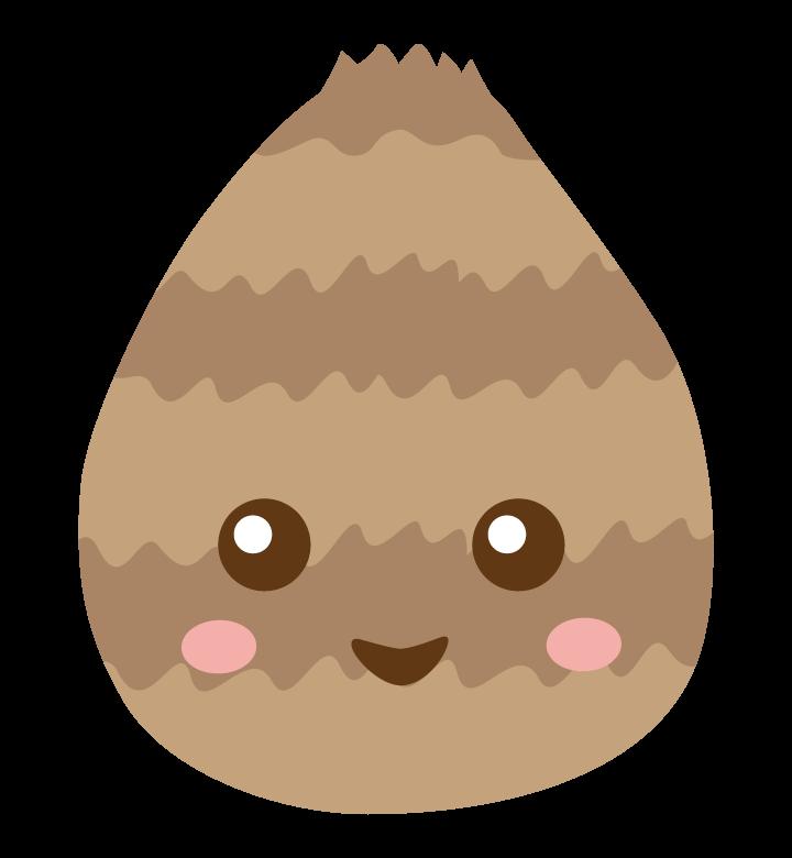 かわいい里芋のキャラクターのイラスト