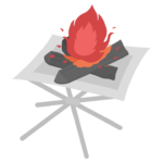 ファイアースタンドと火のイラスト