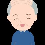 笑顔のおじいちゃんのイラスト02