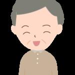笑顔のおじいちゃんのイラスト04