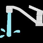 水道から勢いよくでる水のイラスト02