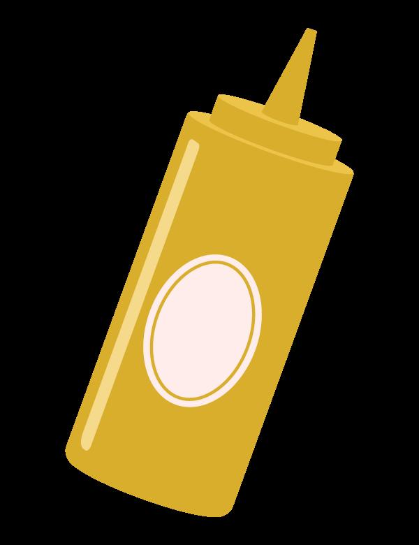 マスタード/マスタードボトルのイラスト