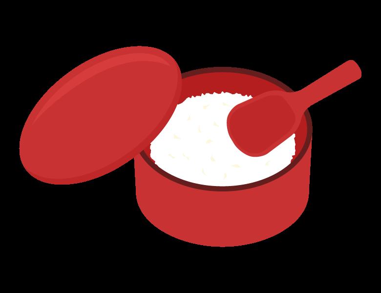 おひつとご飯のイラスト