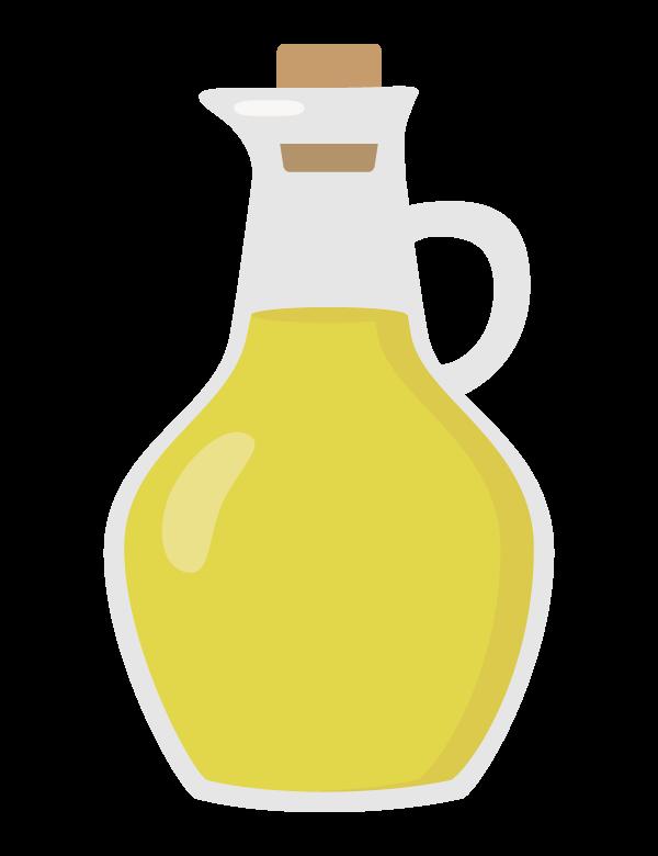 容器に入ったオリーブオイルのイラスト