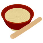 すり鉢とすりこ木のイラスト