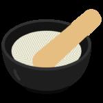 すり鉢とすりこ木のイラスト02