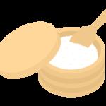 木のおひつとご飯のイラスト