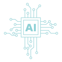 AI/人工知能/CPUのイメージイラスト