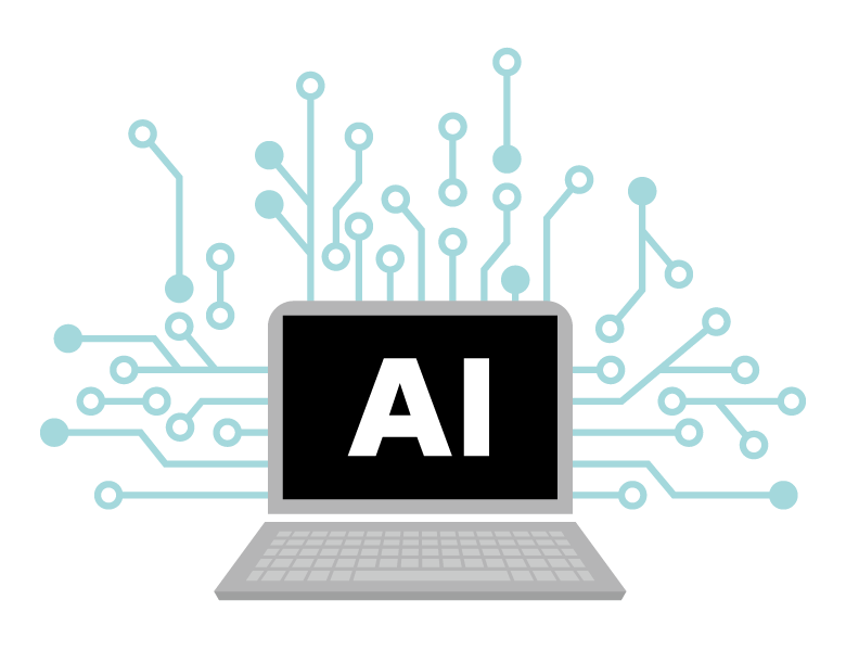 AI/人工知能/CPUのイメージイラスト02