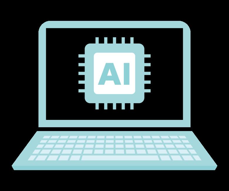 AI/人工知能/PCのイメージイラスト
