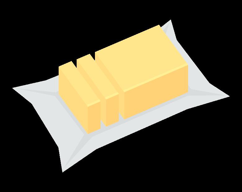 バターのイラスト02