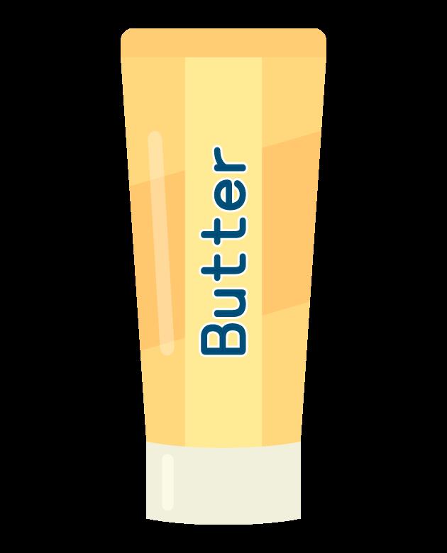 チューブのバターのイラスト