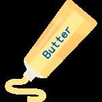 チューブのバターのイラスト02