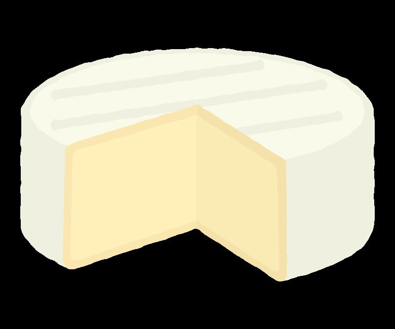 カマンベールチーズのイラスト