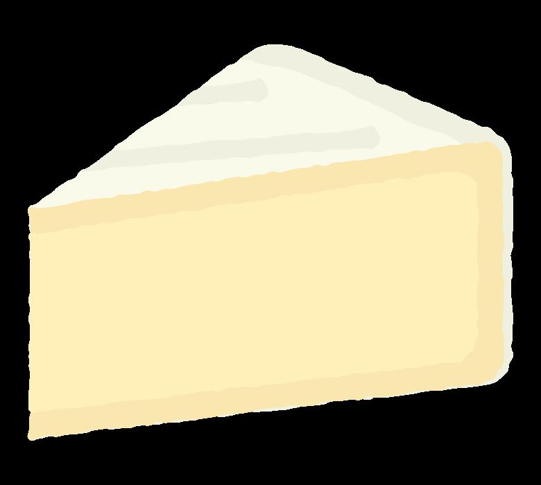 カットされたカマンベールチーズのイラスト